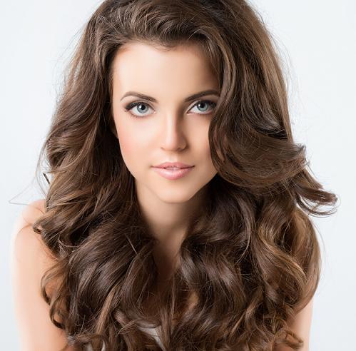 beautiful brunett hair