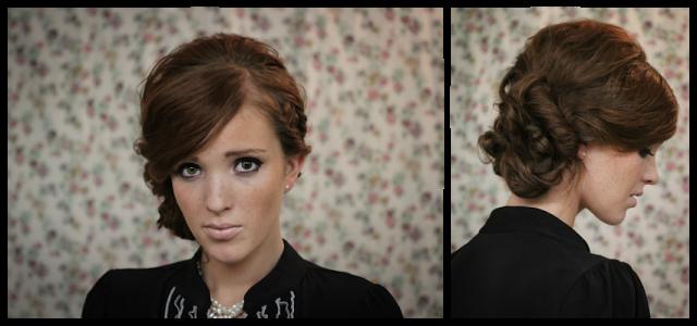 twisted side bun adele hair tutorial wedding holiday hair 2